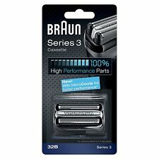 Braun Series 3 32B Electric Shaver Replacement Foil Cartridge Cassette - Black