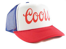 Coors Beer hat Script Trucker Hat mesh hat snapback hat red white blue new