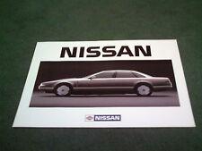 Mint 1986/1987 nissan cue-x prototype-grande langue anglaise dossier de brochure