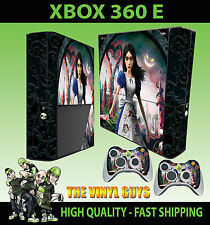 Xbox 360 E ALICE MADNESS RETURNS Wonderland Autocollant peau & 2 pad peau