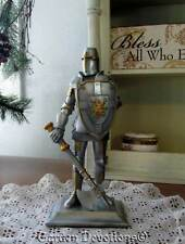 "Incredible 8"" CRUSADER KNIGHT STATUE FIGURINE Soldier for Christ ~ NEW!"