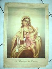 poster stampa LA MADONNA DEL CARMINE sia di benedizione a questa casa ANNI 40
