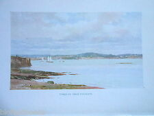Devon 1925 Antiquarian Print by Sutton Palmer of Torquay from Paignton