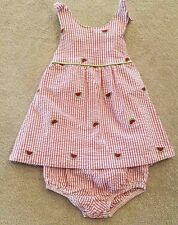 ADORABLE! HARTSTRINGS 18 MONTH STRIPED WATERMELON 2PC JUMPER DRESS W/BLOOMERS