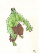 Frankenstien / Hulk Mash Up Color Art - 2006 Signed art by Jesse Maule