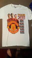 Manchester United USA Tour 2011 Two Sided T-Shirt Men's S Small 100% Cotton