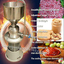 grind colloid mill machine,peanut butter colloid mill machine,10-20kg/h output