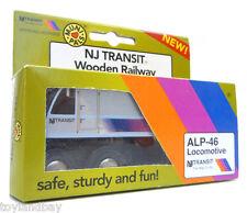 Munipals MP04-1101 Wooden Train New Jersey NJ Transit NJT ALP-46 Locomotive New