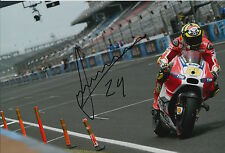 Andrea Iannone Hand Signed Ducati 12x8 Photo 2015 MotoGP 2.