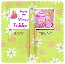 20 PERSONALISED DISNEY PRINCESS AURORA SLEEPING BEAUTY CUP CAKE FLAG Pick Topper