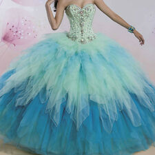 New Beaded Quinceanera Dress Ball Gown Formal Prom Party Pageant Wedding Dresses