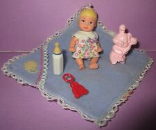 Barbie Happy Family Baby Krissy Chrissy Infant Blonde Hair w/ Outfit Toys CUTE D