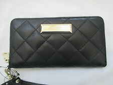 NWT WOMEN'S DKNY LAMB NAPPA QUILTED LEATHER WALLET CELL WRISTLET RETAIL $125.00