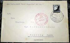 Brief Frankfurt 1938 Graf Zeppelin Sudetenlandfahrt Reichenberg 3 LZ 130 (36