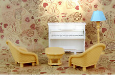 Cute Generic Brand Piano Salon Tea Table Music Room For Sylvanian Families Dolls