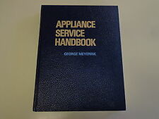 Appliance Service Handbook 1973 Home Refrigerator Dryer Dishwasher Repair