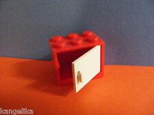 Lego--4532/4533--Schrank,Container,Box--2 x 3 x 2 -Mit Türe--rot /weiß--
