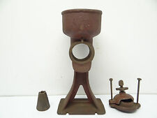 Antique Old Used Metal Cast Iron Red Coffee Grinder Mill Body Parts Hardware