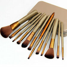 12pcs Makeup Cosmetic Brushes Set Powder Foundation Eyeshadow Lip Brush Tool AO