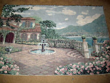 Mediterranean Summer Unfinished Crafters Tapestry Wall Hanging Fabric Remnant