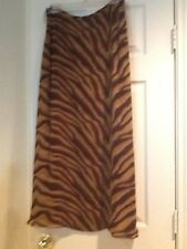 RALPH LAUREN ELEGANT Long SILK Tiger zebra Jungle Print SKIRT size 4 NEW