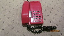 ORIGINAL GPO VINTAGE 80 B.T VISCOUNT RED BUTTON CREAM TELEPHONE[NICE  PHONE