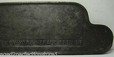 Antique New York Herald Tribune Cast Iron Newspaper Stand Paper Topper Weight