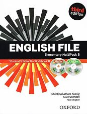 ENGLISH FILE Elementary Third Edition MultiPack B w iTutor + iChecker CD's @NEW@