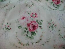 Gorgeous 1890's French Reproduction Yuwa Cotton Pink Roses Champagne Fabric BTY
