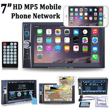 """6.6"""" HD Double 2 DIN Touch Bluetooth Car Stereo Radio MP3 MP5 Player USB/TF/AUX"""