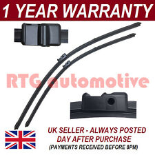 "FOR VW GOLF MK5 2003-2005 DIRECT FIT FRONT AERO WIPER BLADES PAIR 24"" + 19"""