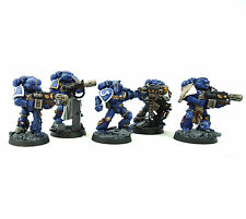 WARHAMMER 40K ARMY SPACE MARINE ULTRAMARINE 5 MAN SQUAD WELL PAINTED