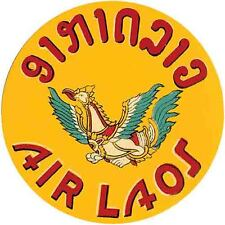 """"""" Air Laos """" Airlines 1950's  Vintage Style  Travel Decal  Sticker Luggage Label"""