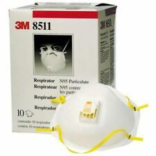 3M 8511 Particulate N95 Respirator with Valve. Full Case of 80 FREE SHIPPIN