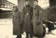 WWII German RP- Army Soldier- NCO- Helmet- Overcoat- License Plate- Motorcycle