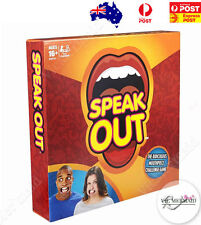 Speak Out Board Game Mouthpiece Challenge Christmas Birthday Party Fun OZ Seller