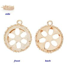 Rose Gold Open Filigree Bezel Pendant Setting for 20mm Round Cameo or Cabochon