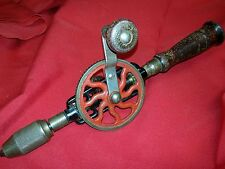Vintage Millers Falls No. 2 Hand Crank Egg Beater Drill Red