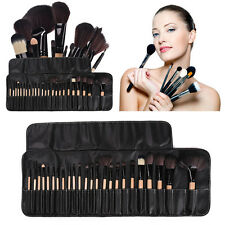 Pro 24Pcs Superior Soft Cosmetic Makeup Brush Set Brushes Kit Pouch Bag Case US