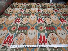 Kravet Southwest Ikat patterned uphostery fabric color rainbow ft150