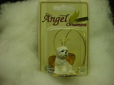 WESTIE dog ANGEL Ornament HAND PAINTED Figurine Christmas puppy White Terrier