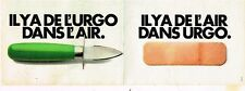Publicité advertising 1980 (2 pages) Les Sparadraps Urgo pansements