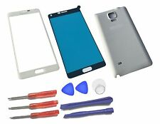 White Outer LCD Front Screen Glass Lens Replacement for Samsung Galaxy Note 4