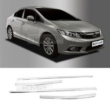 Chrome Side Skirt Accent Garnish Molding Trim B764 For 2012-2013 Honda Civic