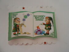 PK 2 SANTA ELFS & LISTS EMBELLISHMENT TOPPERS GREAT FOR  CARDS & CRAFTS