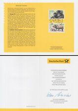 Klappkarte 10.5.01 Bedrohte Tierarten, Berggorilla, Nashorn (MiNr.2182-83)