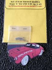 SET OF 4 TURNED MUFFLER FOR FERRARI 250 GTO IN 1/43 SCALE TYPE C AMT-009