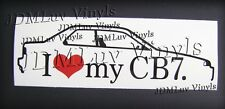 I love my CB7 90-93 Sticker decal JDM Honda accord