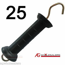 25 x ELECTRIC FENCE SPRING GATE HANDLE LARGE SHIELD HEAVY DUTY S SOLAR ENERGISER