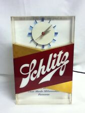 Schlitz lighted clock beer sign blue moon 1959 bar light Galaxy register top HM1